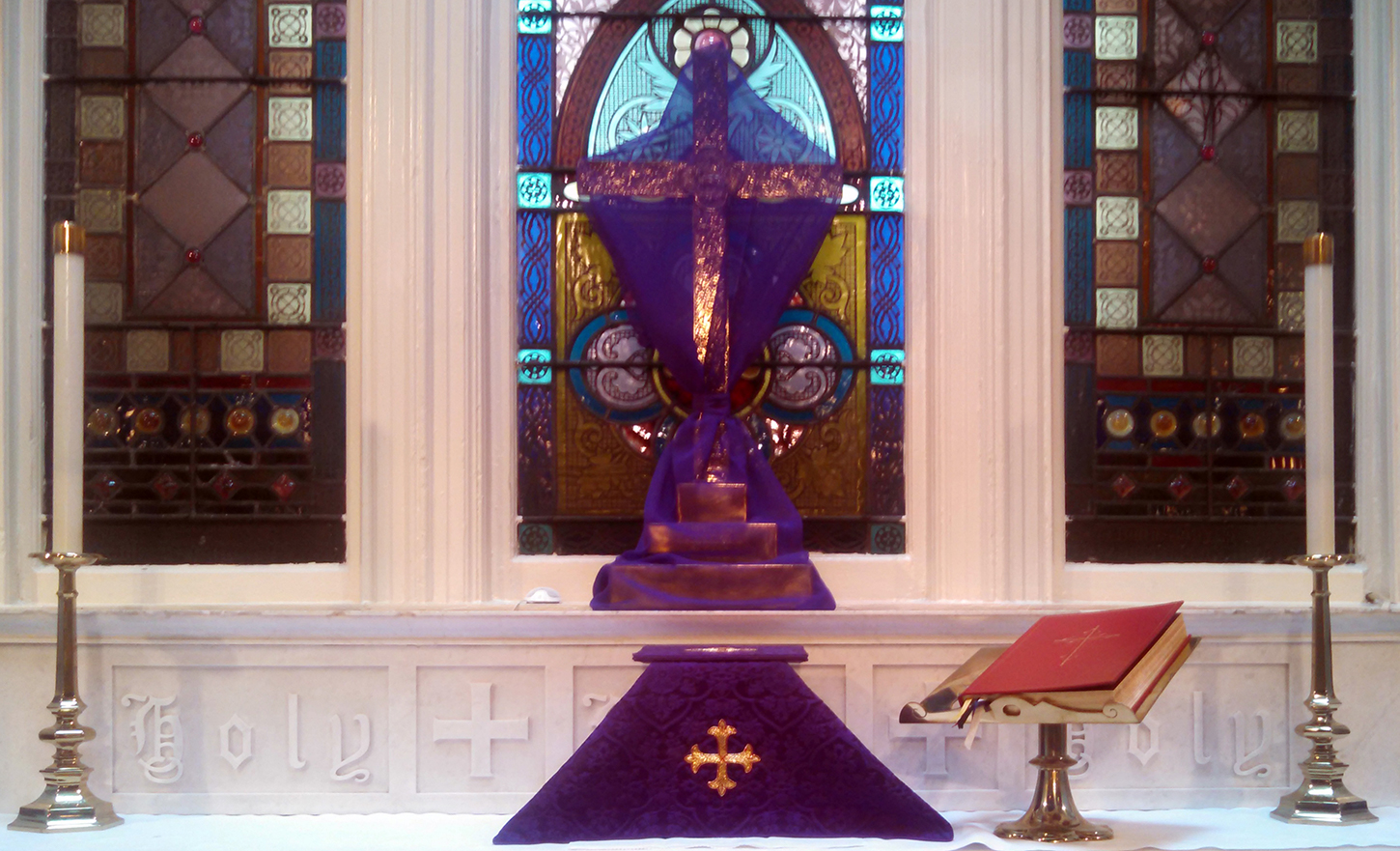 veiled altar cross